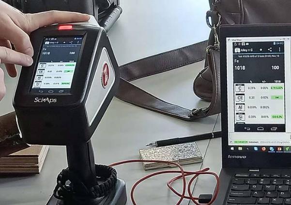 手持式LIBS测碳光谱仪在锅炉铁管上的应用